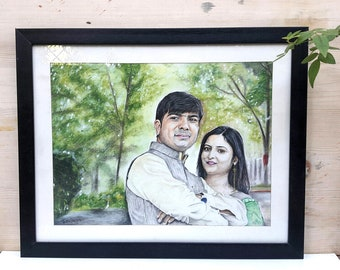 Custom Sketch |Colored Pencil |Custom Portrait |Color Pencil Portrait| Sketch From Photo| Wedding Gift| Birthday gift| Romantic gift| Couple