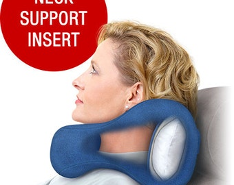 Award-Winning Chiropractic Pillow With Strong Side & Back Support, S M L Blue, Neck Pain Relief Cervical Cushion, Car Bus Airplane Recliner