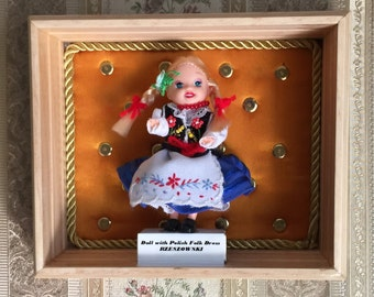 DOLLY with Polish Folk Dress – RZESZOWSKI, handmade 3D picture, Dolly Collection,