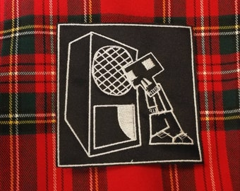 Embroidered patches in thread size 9 cm Tekno Sound system addict