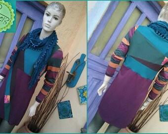 Hippie Boho Patchwork tunic cotton dress