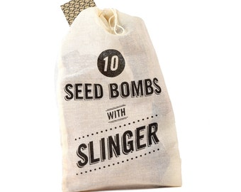 Wildflower Seed Bomb Kit with Slingshot | Garden | Spring | Gift