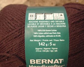 Bernat Handicrafter DeLux Cotton, 5 oz Ball,  Expresso