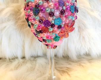 Girly Girl PoP'd Wine Glass 20oz