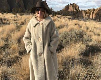 50's Faux Fur Swing Coat