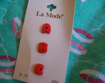 a b c buttons