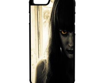 Creepy Woman iPhone Galaxy Note LG HTC Hybrid Rubber Protective Case