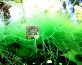 Apple Green Marabou Boa Feathers