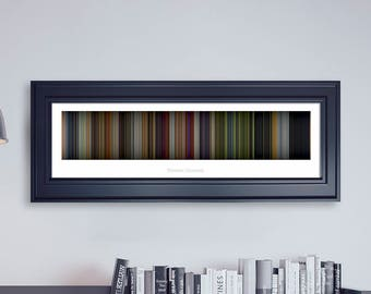 Monsters University // Movie Poster // Movie Barcode // Pixar Print // Wall Decor // Panoramic