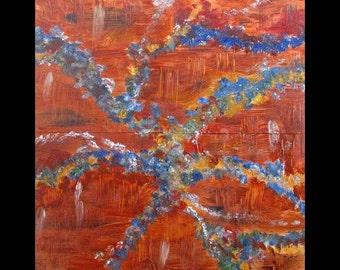 Abstract Art for Sale, Metal Artwork,Copper,Original Art, Abstract, Painting,Modern,Contemporary,Karina Keri-Matuszak, Etsy Paintings