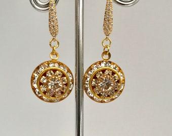 Beautiful Edwardian Earrings Art Nouveau Earrings Bridal Earrings Jewellery