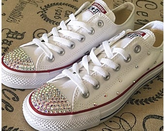 Blinged Low Top Converse