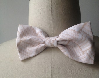Cream Nautical Rope Bowtie with adjustable strap, Mens bowtie
