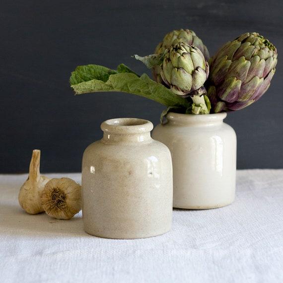French Glazed Crocks - Set of 2