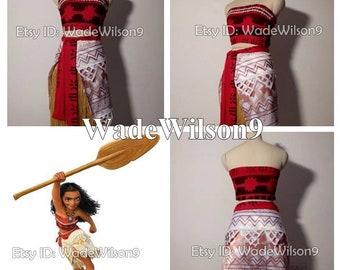 Princess Moana Cosplay Costume Moana Cosplay Dress Princess Moana Dress