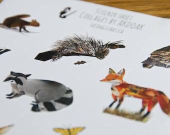 Woodland theme Sticker Sheet