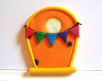 Fairy Door with Party Bunting and Glow in the Dark Window