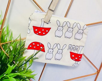 Bunny and Toadstool Coin Purse