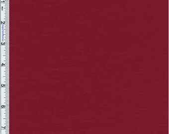 Crimson Red Poly Jersey Knit, Fabric By The Yard