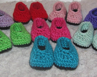 Crochet Doll Shoes, doll slippers, 18 inch doll shoes, crochet shoes, FREE SHIPPING with another item