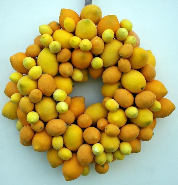 Fruit Wreath, Lemon Wreath, Sugared Fruit Wreath