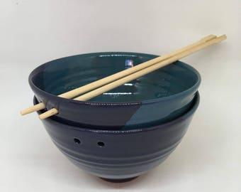 Ceramic noodle bowls / handmade pottery
