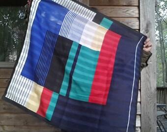 Vintage Color Block scarf