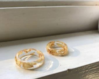 Gold Chrysanthemum RIng, Plant Ring, Terrarium Ring