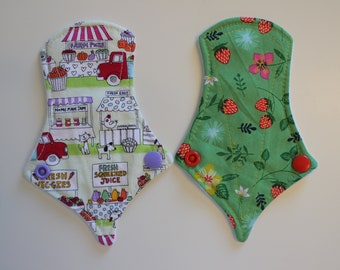 "set of two 6"" thong liners - farmer's market & sweet escape"