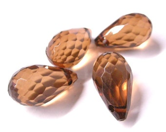 4pc crystal brown acrylic faceted drop-5514