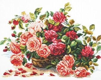 Cross Stitch Kit Roses