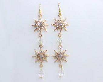Christine Think of Me Earrings Cosplay Costume-Gold (Phantom of the Opera)