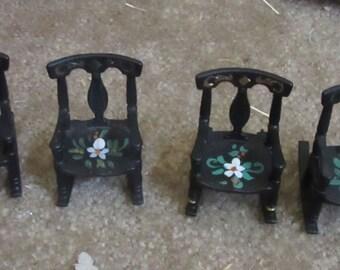renwal black furniture rocking chair