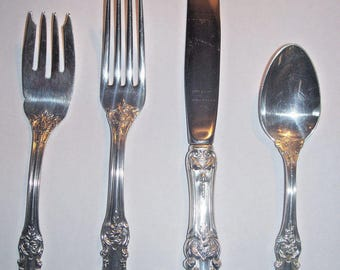 BURGUNDY 4Pc Place Setting -Sterling, 1949-by Reed & Barton