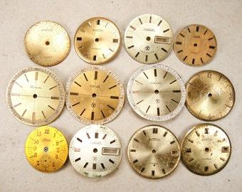 Vintage Watch Faces - set of 12 - c38