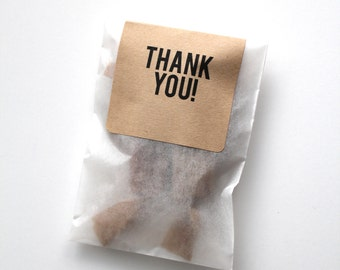 DIY Wedding Favors - Salted Caramels in White Glassine Envelopes {2} caramels in each Envelope - 100 Guests