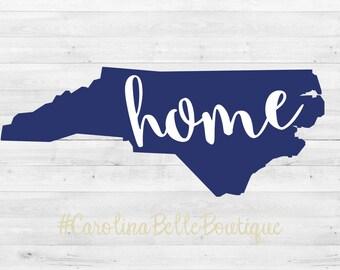 North Carolina Home Vinyl Decal