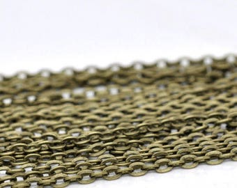 10 x Antique Bronze ready made necklace chains for hanging pendants 24 inch length with lobster clasp fastening nickel free