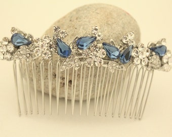 Bridesmaid hair comb,something blue Silver Leaf Hair Comb,Silver Bridal Hair Comb,Leaf Hair Comb,Wedding Hair Comb,Silver Leaf Headpiece