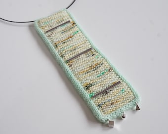 knitted necklace kit - hang on to me - hand dyed yarn