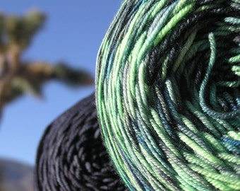 Sport Weight Yarn - Custom Dyed Shawl Yarn - Imperial Jade
