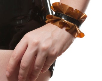 Reserved: Latex Ruffled Cuffs - Pair