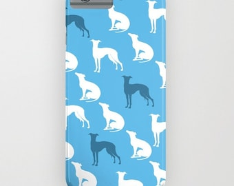 Greyhound Dogs on Phone Case - greyhounds, silhouette,, iPhone 6S, iPhone 6 Plus, Gifts for Pet Lovers, iPhone 8