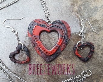 Red Velvet Valentine Jewelry set