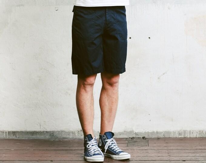 Marco Polo Chino Shorts . 90s Shorts Black Chino Vintage Beach Shorts Mens Casual Shorts 90s Short Pants Holiday Shorts . size Small S