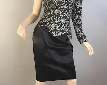 Vintage Gunne Sax Dress// 80s Prom Dress by Jessica McClintock// Small 80s Designer Dress (F1)