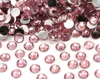 Light Pink Resin Rhinestones for Embellishments and Nail Art 3-6mm