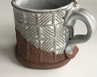 Set of 2 hand built Tea Cups