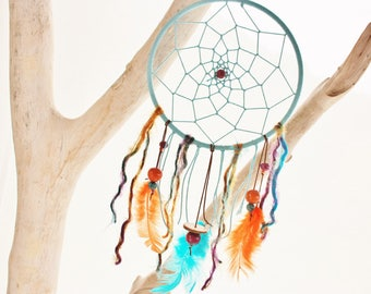 "Dream catcher Nature & Co ""spring spirit"" turquoise, purple & orange"