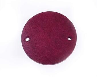 Minimal geometry wood round earring pendant handmade supplies Wood Jewelry Double hole 25mm 20 pcs 10168557